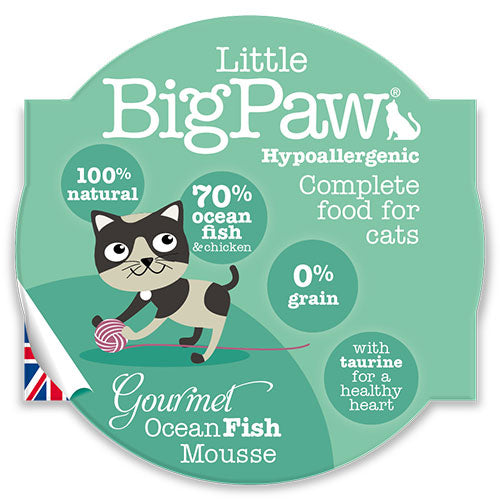 LITTLE BIG PAW Gourmet Ocean Fish Mousse 85 Grams