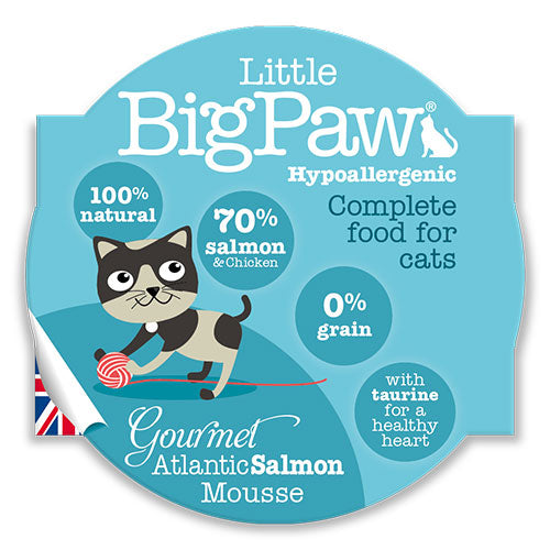 Little Big Paw Gourmet Atlantic Salmon Mousse 85 Grams