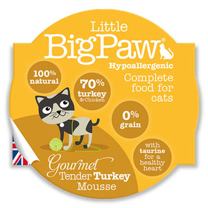 LITTLE BIG PAW - Gourmet Tender Turkey Mousse 85 Grams