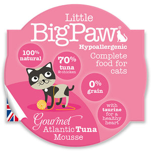 LITTLE BIG PAW Gourmet Atlantic Tuna Mousse 85 Grams