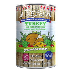 LITTLE BIG PAW - TURKEY AND BROCCOLI - (390 G PACK OF 12)