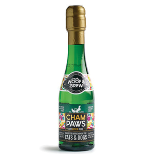 Woof S. Brew, UK Cham:Paws Champagne for Cats S. Dogs  200ml