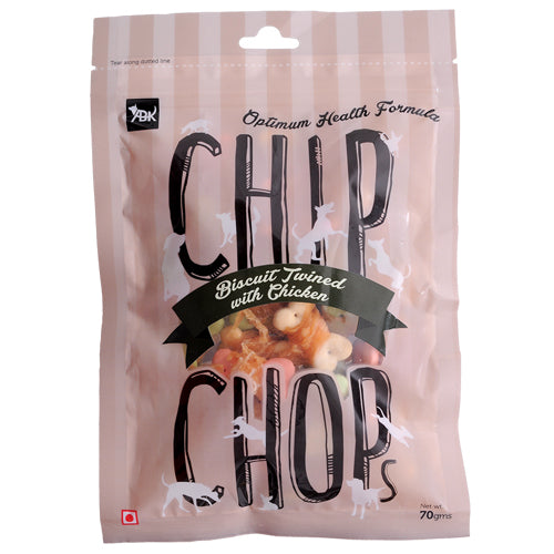 CHIP CHOPS TREATS BISCUIT TWINED WITH CHICKEN