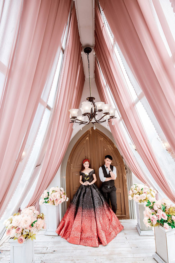 ombre wedding dresses red and black Australia Envious Bridal & Formal