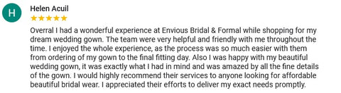 envious bridal and formal review helen acuil