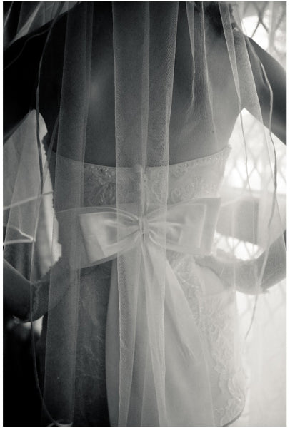 wedding dress with back bow