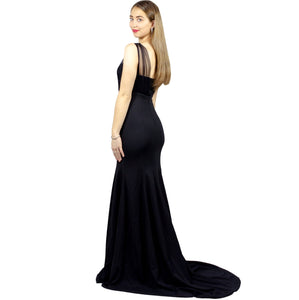 ADELITA | Sweetheart Neckline Minimalist Black Formal Dress - All Products Envious Bridal
