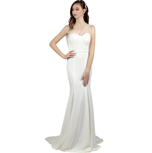 Sweetheart Neckline Minimalist Wedding Dress Envious Bridal & Formal Perth