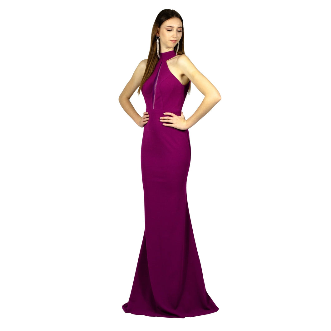 ADRIKA | Halter High Neck Purple Formal Dress - All Products Envious Bridal