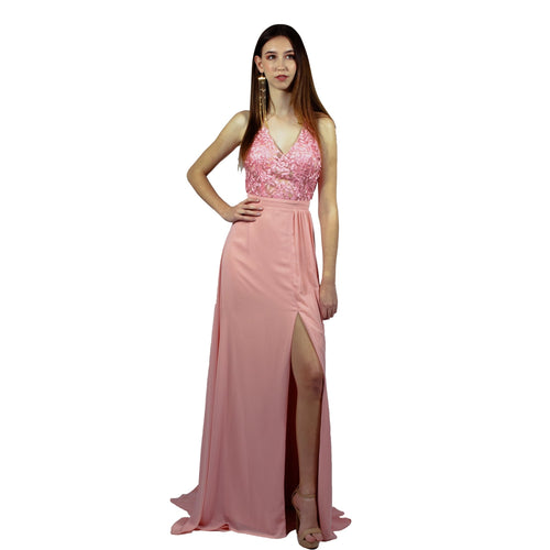 ARELLA | Lace & Chiffon Pink Formal Dress - All Products Envious Bridal