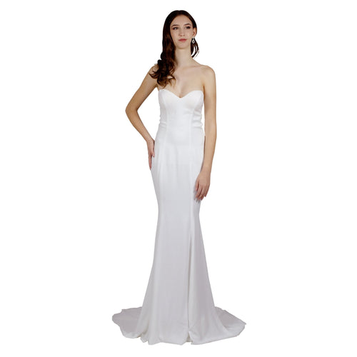 Silk Crepe Simple Wedding Dress Envious Bridal & Formal Perth WA Australia