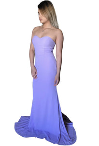 CELESTINA | Lilac Gown With Lace Train - All Products Envious Bridal