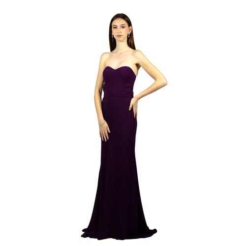 CELESTINA | Purple Silk Chiffon Dress With Glitter Train - All Products Envious Bridal