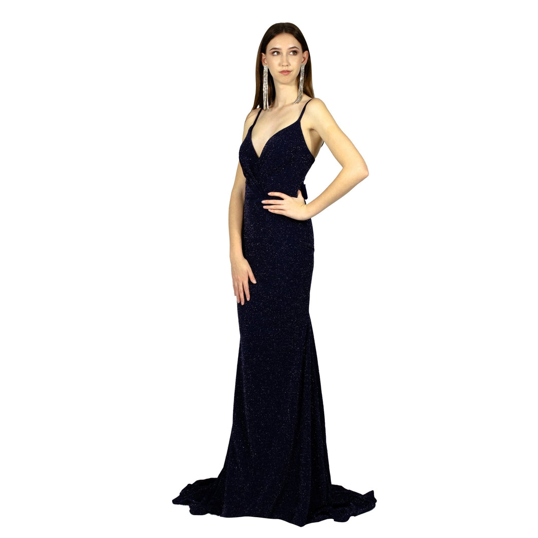 DAMARIS | Navy Glitter Look Evening Dress - All Products Envious Bridal