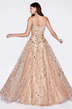 Load image into Gallery viewer, DHARA | A Line Glitter Rose Gold Formal Gown - All Products Envious Bridal