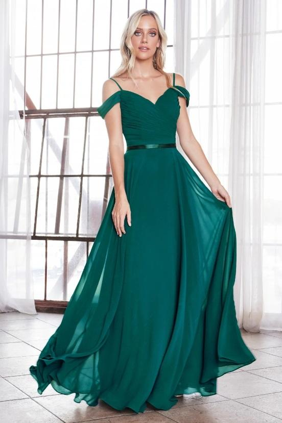 ELVERA | Off Shoulder Chiffon Flowy Bridesmaid Dress - Bridesmaid Dresses Envious Bridal & Formal