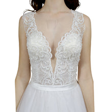 Load image into Gallery viewer, Beaded Lace Bodice A Line Bridal Gowns Envious Bridal & Formal Australia