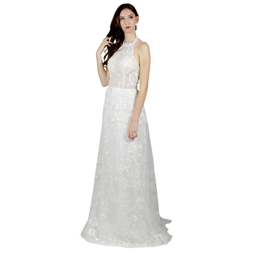 High Neck Boho Lace Wedding Dress Envious Bridal & Formal
