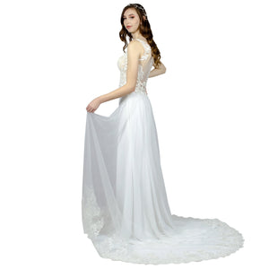 Bohemian Sheath Silk Crepe Wedding Dresses Envious Bridal & Formal Perth Australia