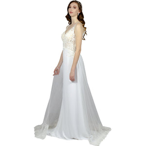 Sheath Silk Crepe Wedding Dresses Envious Bridal & Formal Perth Australia