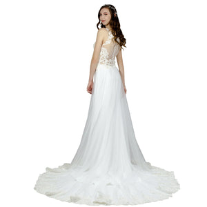 Lace & Silk Crepe Wedding Dress Envious Bridal & Formal Perth Australia
