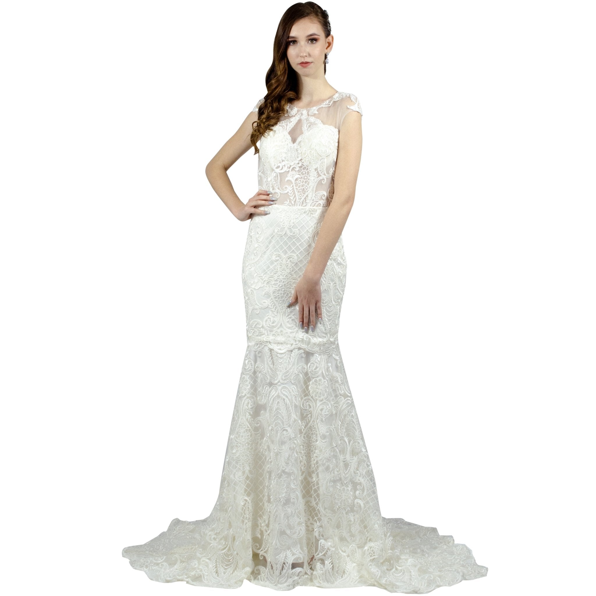 Vintage Style Lace Fit And Flare Wedding Gowns Envious Bridal & Formal