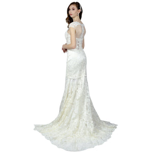 Vintage Style Lace Fit And Flare Wedding Gowns Online Australia Envious Bridal & Formal