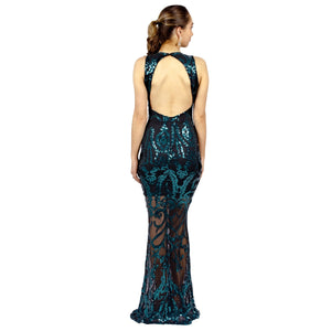 Emerald Sequin Backless Evening Gowns Perth Australia Online Envious Bridal & Formal