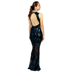 Emerald Sequin Backless Ball Dresses Gowns Perth Envious Bridal & Formal