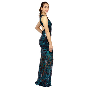 Emerald Sequin Backless Formal Gowns Perth Envious Bridal & Formal