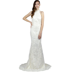 High Neck Halter Lace Wedding Gown Perth Envious Bridal & Formal