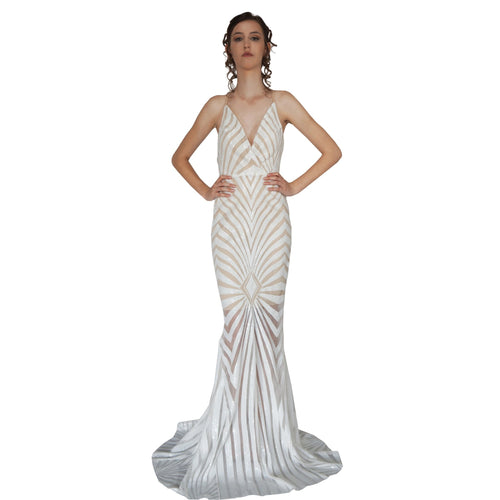 White Sequin Evening Dresses Perth Australia Envious Bridal & Formal