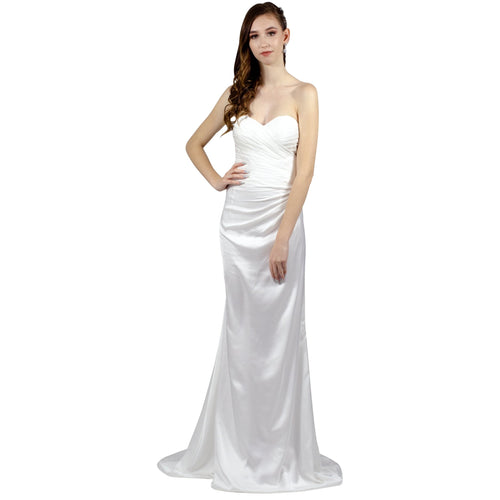 Silk Crepe Sweetheart Strapless Wedding Dress Perth Envious Bridal & Formal
