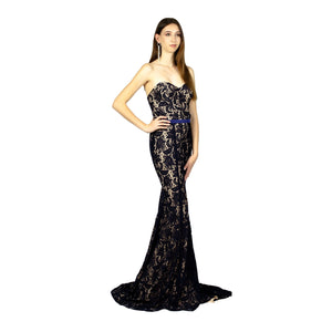 Strapless Lace Navy Evening Dresses Envious Bridal & Formal Australia