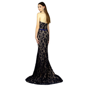 Lace Navy Evening Dresses Ball Dresses Envious Bridal & Formal Perth