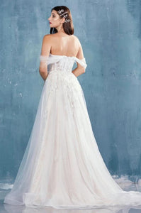 Marabelle | Off Shoulder 3D Lace Bodice Wedding Gown - Wedding Dress Envious Bridal & Formal