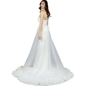 Simple Wedding Dress With Detachable Skirt Envious Bridal & Formal