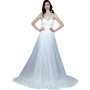 Shimmer Wedding Dress With Detachable Skirt Envious Bridal & Formal