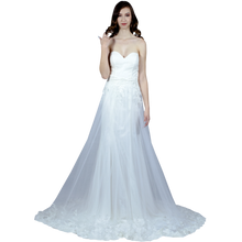 Load image into Gallery viewer, Strapless Wedding Dress With Detachable Skirt Envious Bridal & Formal