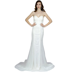 MARYBELLA | Shimmer Wedding Dress With Detachable Skirt - Wedding Dress Envious Bridal & Formal