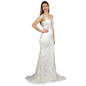 Thick Strap Sheer Bodice Mermaid Wedding Dresses Perth Envious Bridal & Formal