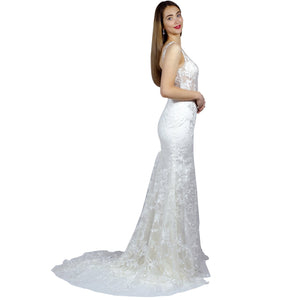 Thick Strap Sheer Bodice Mermaid Wedding Dress Perth Shops Envious Bridal & Formal