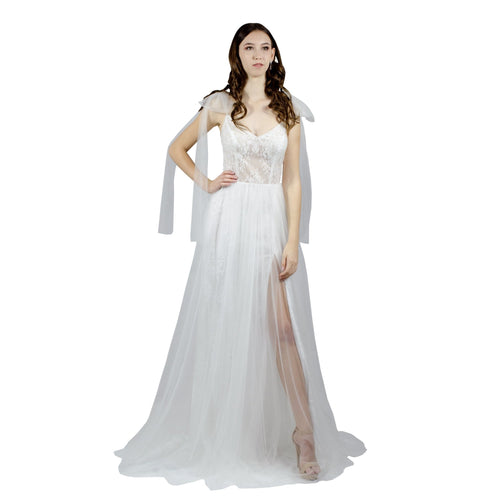 Romantic Bohemian Style Lace Tulle Wedding Dress Envious Bridal & Formal