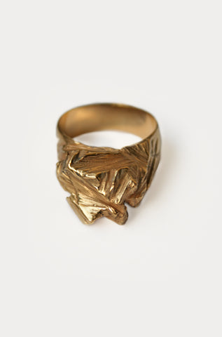 CLIFF RING 24K - MUTTER METAL WORKS