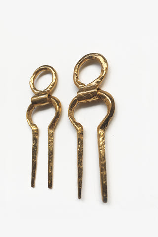 KORBAN EARRINGS (24K) - MUTTER METAL WORKS