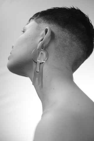H EARRING (SINGLE) - MUTTER METAL WORKS