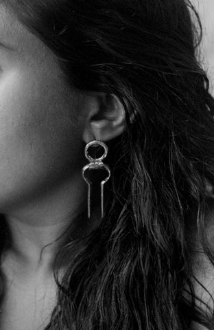 KORBAN EARRINGS (SILVER) - MUTTER METAL WORKS