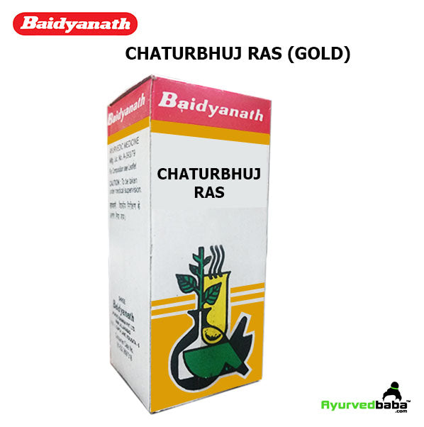 Baidyanath Chaturbhuj Ras (Gold) - 10Tablets