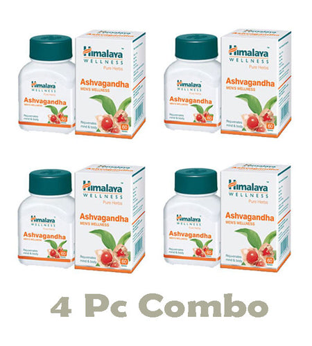 Himalaya Ashvagandha 60 Tablets - Pack Of 4