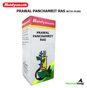 Baidyanath Prawal Panchamrit Ras (With Pearl) - 25Tablets